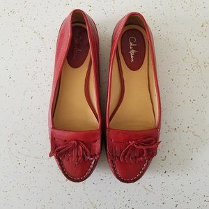 COLE HAAN  Cherry Red Leather Loafers